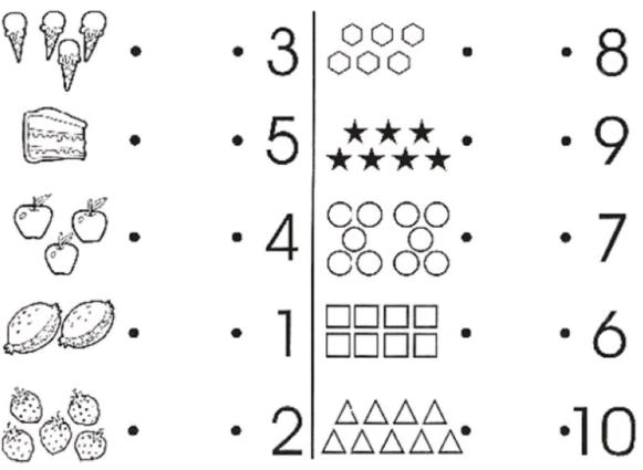 actividades de conteo para preescolar del 1 al 10