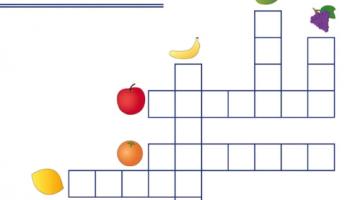 crucigramas con imagenes para niños de primaria