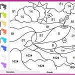 Dibujos para colorear de matemáticas