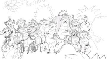 personajes de cuentos para colorear