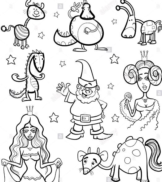 personajes de cuentos para colorear e imprimir