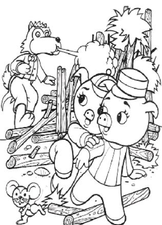 personajes de cuentos infantiles para colorear