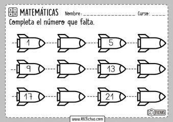 series numericas para niños de primaria