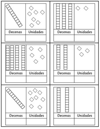 ejercicios de unidades y decenas 1o primaria para imprimir